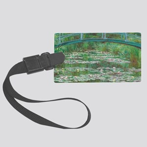Claude Monet The Japanese Footbr Large Luggage Tag