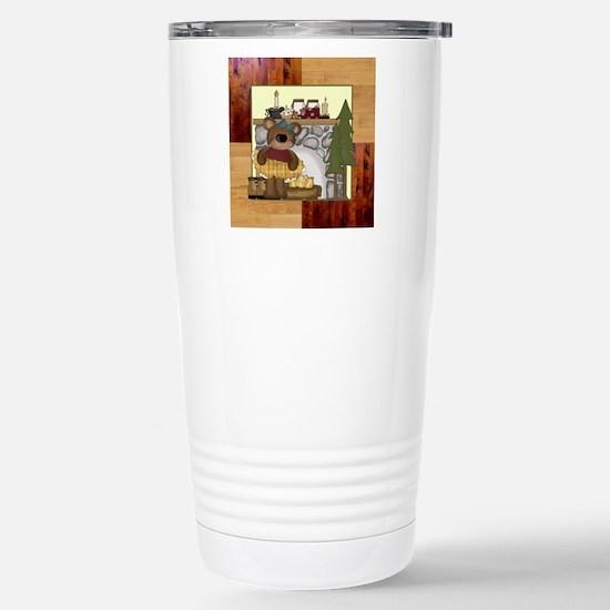 CABIN BEARS Stainless Steel Travel Mug