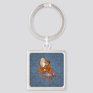 LOOKING GLASS Square Keychain