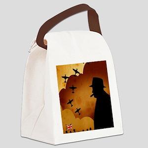 W. Churchilll at WW2 Canvas Lunch Bag