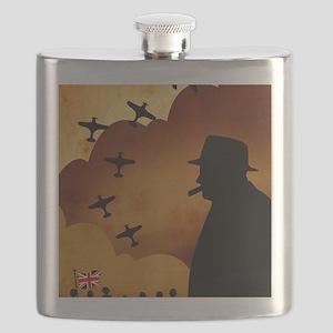 W. Churchilll at WW2 Flask
