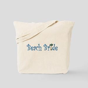 Beach Bride Palm Tote Bag