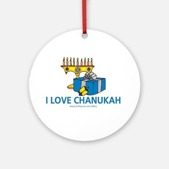I Love Chanukah Ornament (Round)