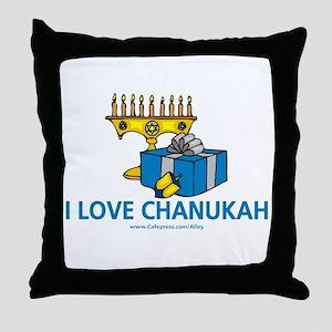 I Love Chanukah Throw Pillow