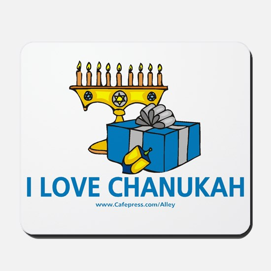 I Love Chanukah Mousepad