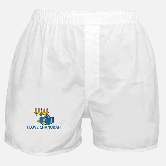 I Love Chanukah Boxer Shorts