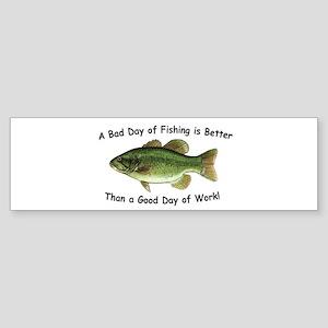 Bad Day Fishing Bass Bumper Sticker