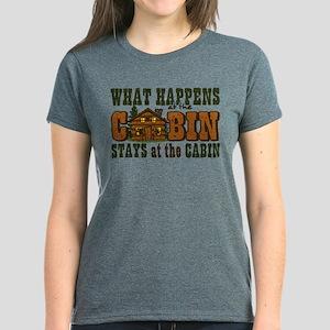 Happens At The Cabin Women's Dark T-Shirt