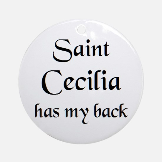 saint cecilia Round Ornament
