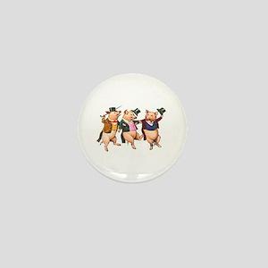 Three Little Pigs Mini Button