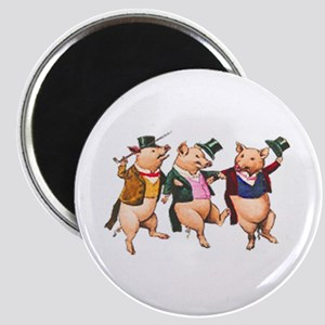 Three Little Pigs Magnets
