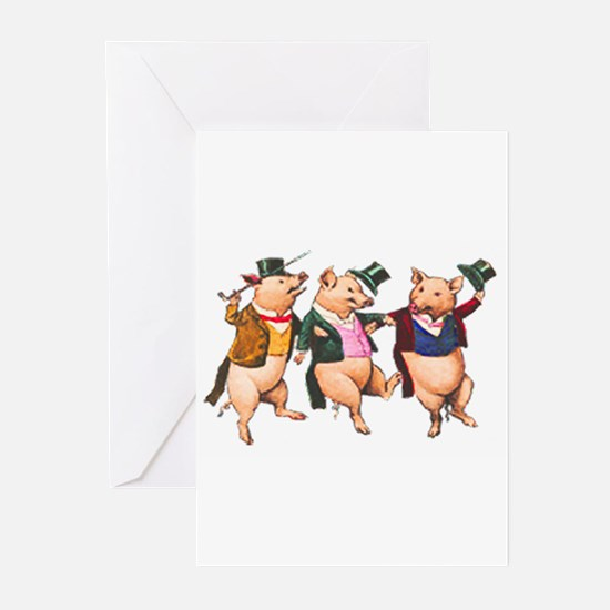 Three Little Pigs Greeting Cards