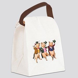 Three Little Pigs Canvas Lunch Bag