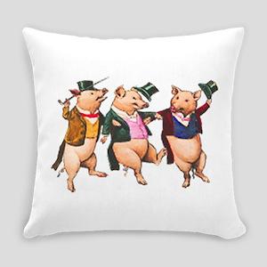 Three Little Pigs Everyday Pillow