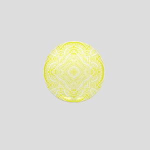 breezy, spring, summer, white, yellow Mini Button