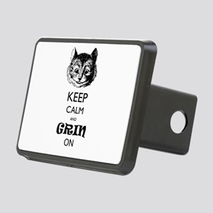Keep Calm And Grin On Rectangular Hitch Cover