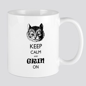 Keep calm and grin on Mugs