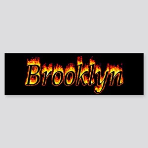 Brooklyn Flame Bumper Sticker