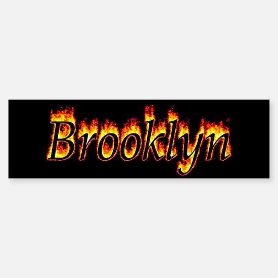Brooklyn Flame Bumper Bumper Bumper Sticker