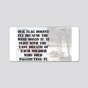 USA Soldier Aluminum License Plate
