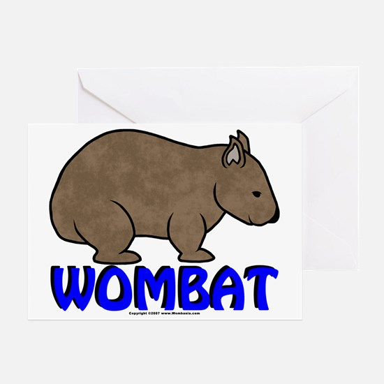 Wombat Logo III Greeting Card