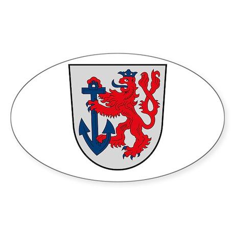 Dusseldorf Coat of Arms Oval Sticker