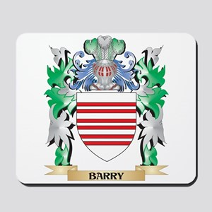 Barry Coat of Arms - Family Crest Mousepad