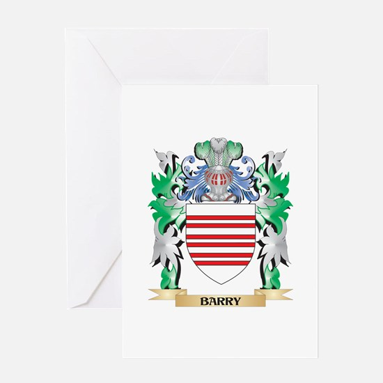 Barry Coat of Arms - Family Crest Greeting Cards