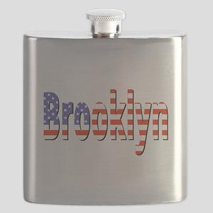 Patriotic Brooklyn Flask