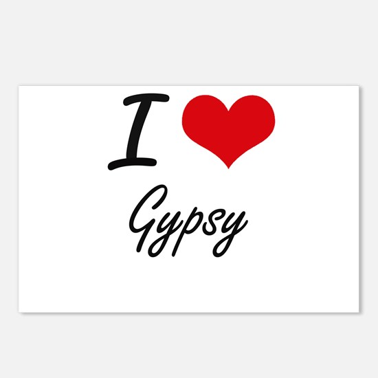 I love Gypsy Postcards (Package of 8)