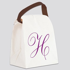 Personalized Monogram Initial Canvas Lunch Bag