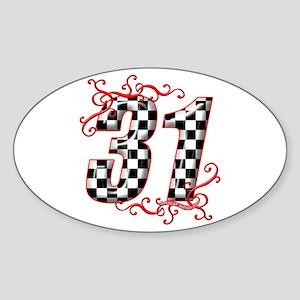 RaceFashion.com 31 Oval Sticker