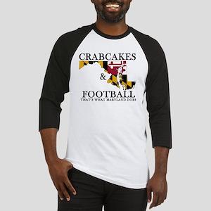 Old School Crabcakes & Football Baseball Jersey