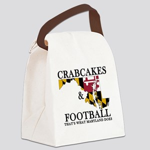 Old School Crabcakes & Football Canvas Lunch Bag