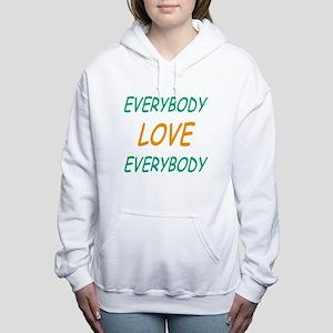 Old School Blue Women's Hooded Sweatshirt