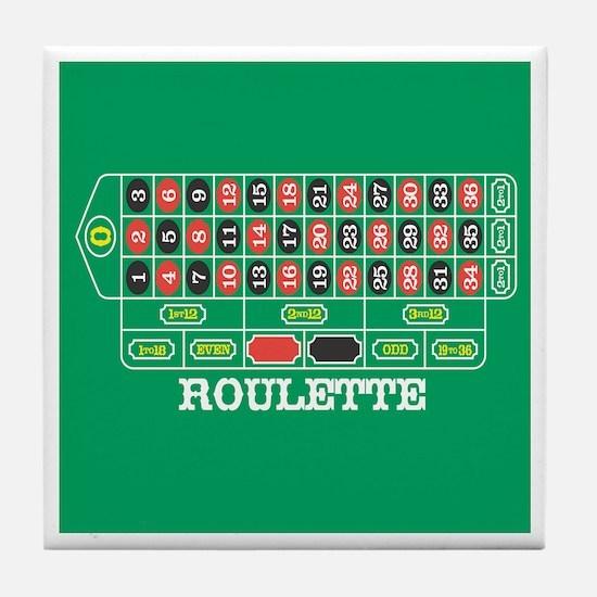 Roulette Table Tile Coaster