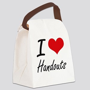 I love Handouts Canvas Lunch Bag