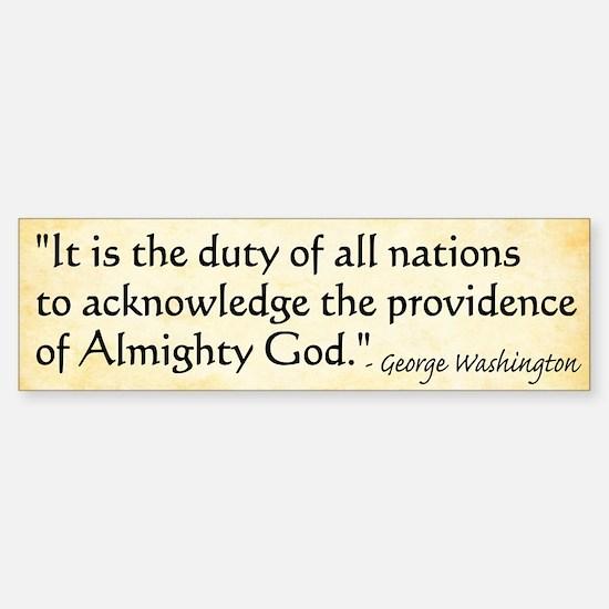 George Washington - Faith Bumper Bumper Bumper Sticker