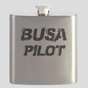 Busa Pilot Black Letters Flask