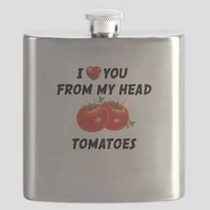 I Love You From My Head Tomatoes Flask