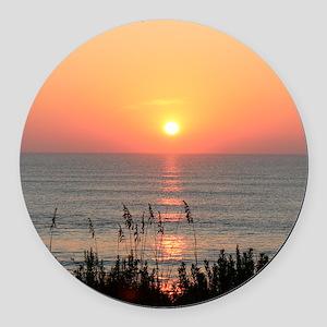 Outer Banks Sunrise Round Car Magnet