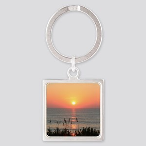 Outer Banks Sunrise Square Keychain