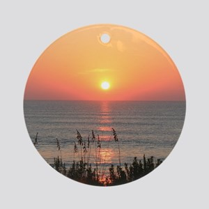 Outer Banks Sunrise Round Ornament