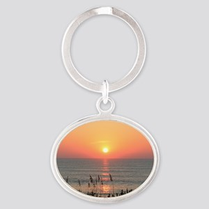 Outer Banks Sunrise Oval Keychain