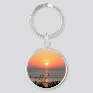 Outer Banks Sunrise Round Keychain
