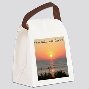Outer Banks Sunrise Canvas Lunch Bag