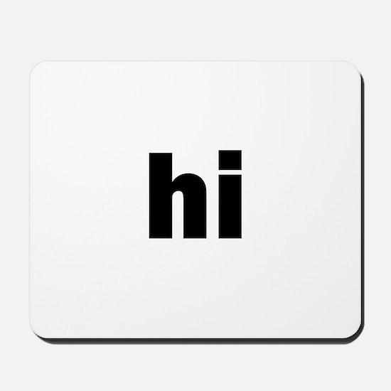 hi Mousepad