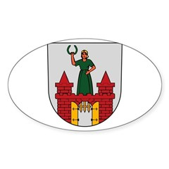 Magdeburg Coat of Arms Oval Decal
