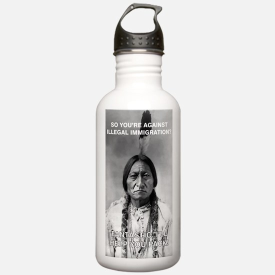 illegal immigration Water Bottle