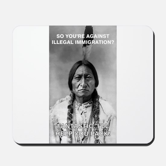 illegal immigration Mousepad